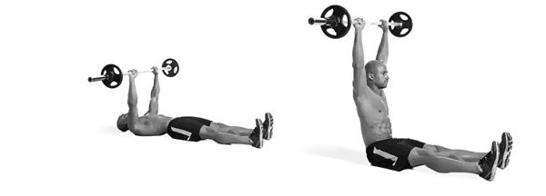 Barbell-Sit-ups